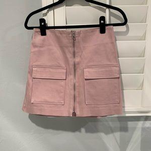 J.O.A Pink Zip Skirt